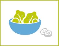Salade home beeld